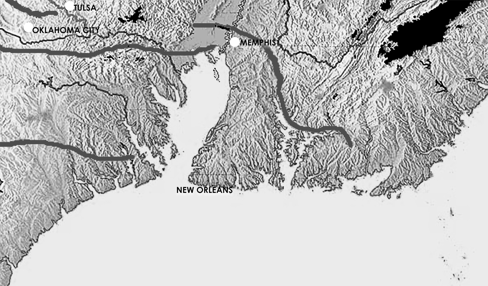 Karte Süden USA